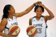 Maya Moore, left, and Seimone Augustus (Pioneer Press file photo: Chris Polydoroff)
