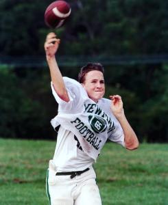 A young throwing Peyton Manning